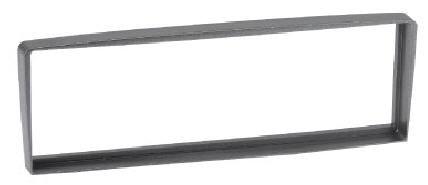 RTA 000.318-0 1 - DIN mounting frame, silver gray ABS Alfa Romeo
