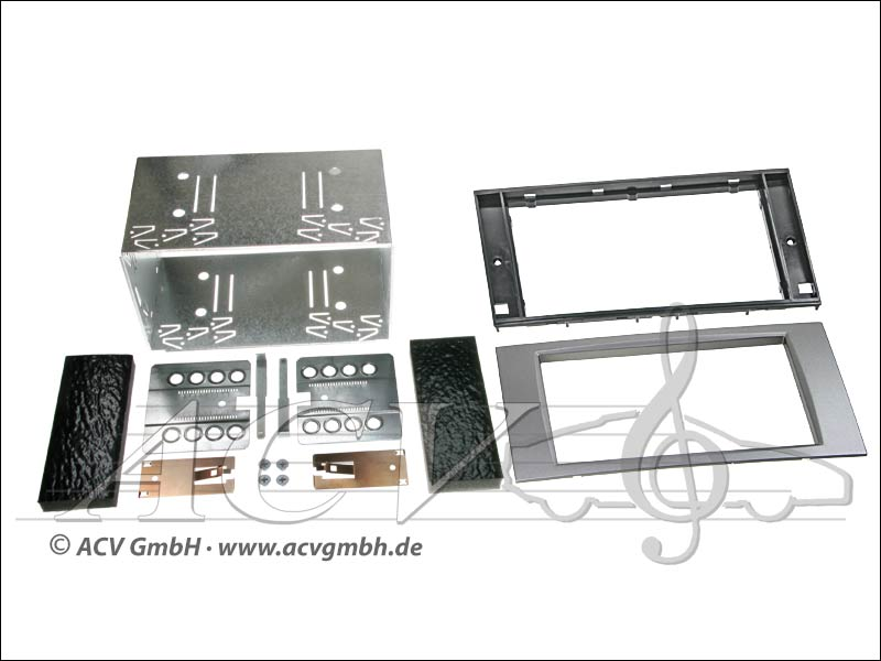 Double-DIN installation du kit Ford caoutchouc Touch 2005 - dargent>