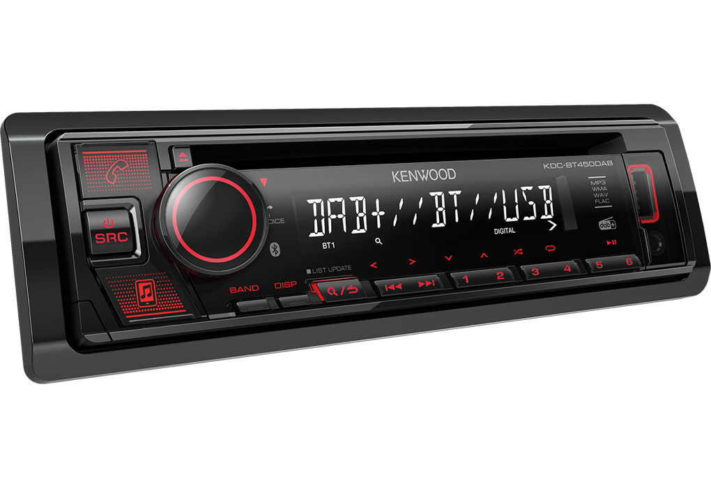 KENWOOD KDC-BT450DAB CD/USB-Receiver mit Bluetooth & DAB+ Digitalradio DAB+ Bluetooth USB