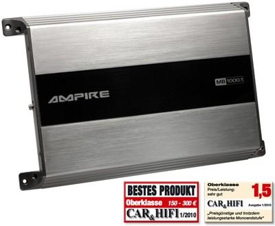 Ampire MB1000.1 Amplificateur numérique mono de 1000 watts 1000,1 MB
