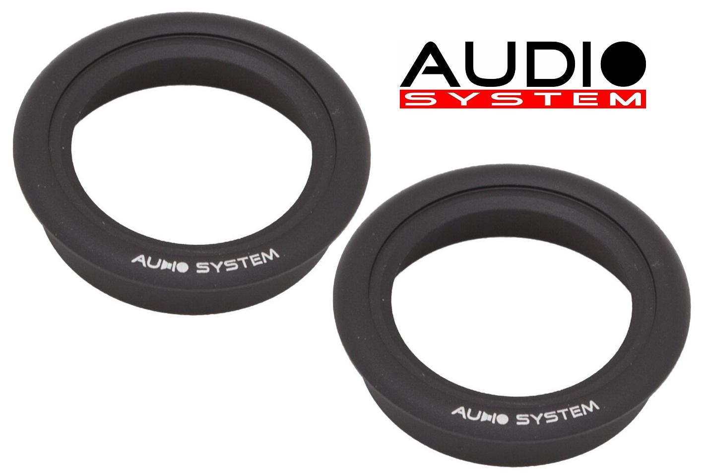 Audio System ALU-RING HS 25 BL Alueinbauring für Audio System Hochtöner 1 Paar