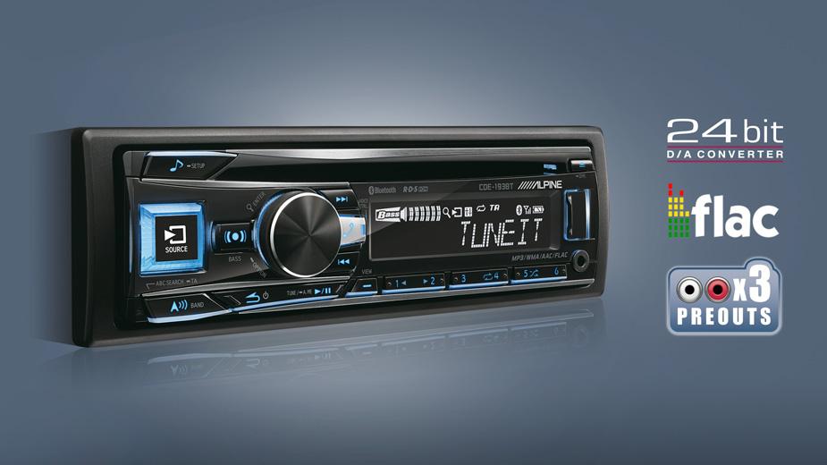 Alpine CDE-193BT CD/USB Autoradio mit ADVANCED BLUETOOTH CD/MP3/AAC/WMA/USB-Receiver