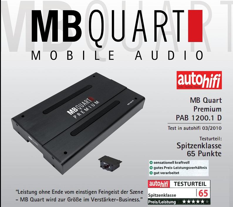 CAP MB Quart 1200.1D PAB1200.1 BLOC MONO PREMIUM