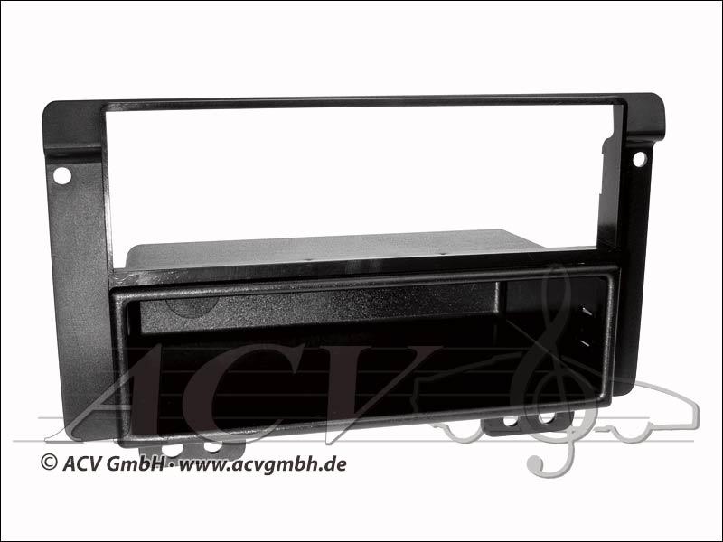Radioblende Land Rover Freelander Doppel ISO schwarz