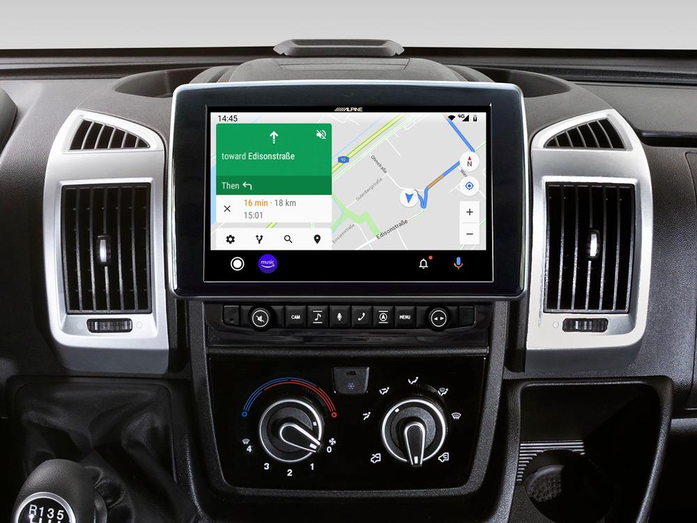 Alpine X903D-DU 9-Zoll-Navigationssystem mit Tochscreen für Fiat Ducato III, Citroën Jumper II und Peugeot Boxer II mit TomTom Karten und Apple CarPlay / Android Auto