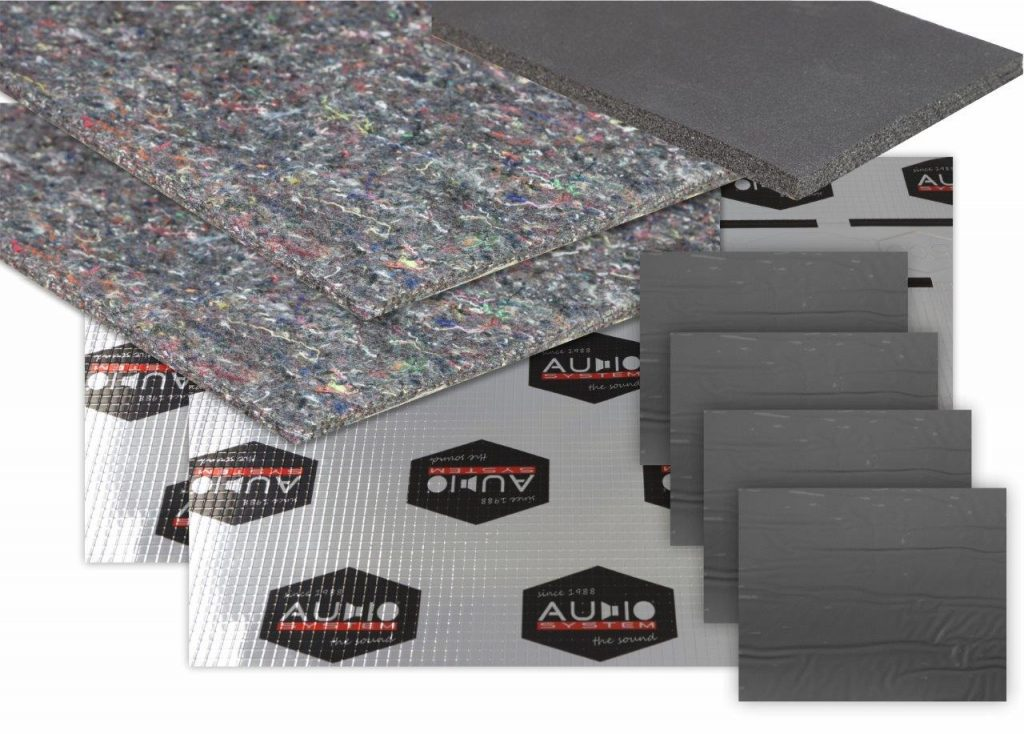 AUDIO SYSTEM DOOR KIT 2.0 Dämm-Set DÄMM-VLIES und Alubutyl Dämmmaterial für 2 Türen