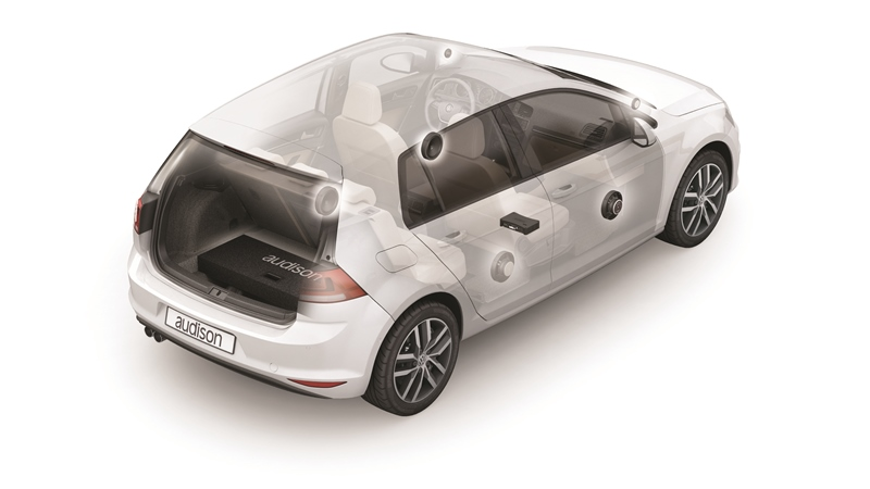 Audison APSP G7 KIT - CUSTOM AMP+SPEAKERS+ACC. für GOLF7 - Prima Soundpaket VW Golf VII