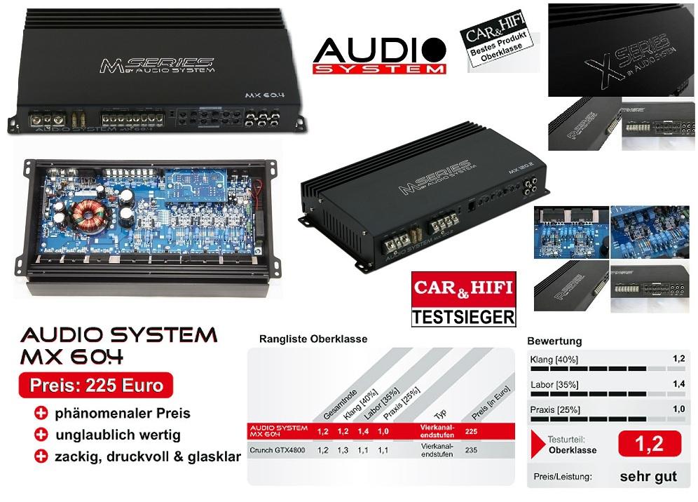 Audio System MX MX60.4 60.4 4-channel amplifier