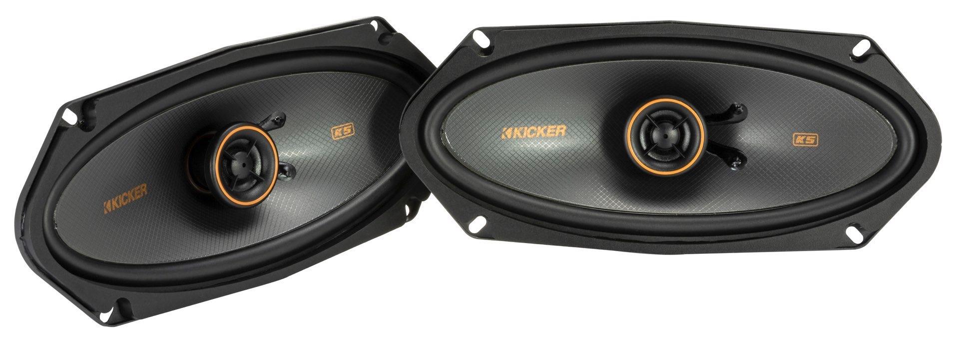 KICKER KSC41004 2 Wege Koax Lautsprecher 10 x 25 cm, 4x10 KSC41004-47 1 Paar KSC4100