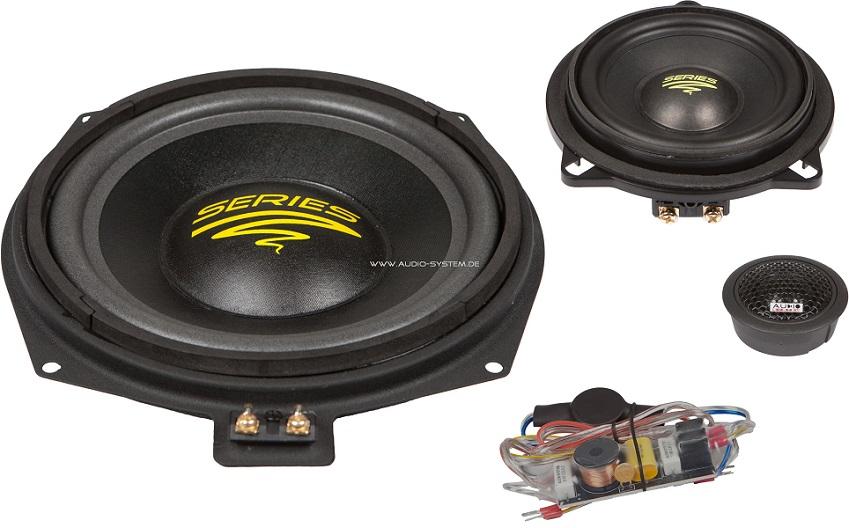 Audio System X 200 BMW X-Series 3-Wege Teil-Aktiv Front System für BMW E60,61,81,82,87,88,90,91,92 X200BMW