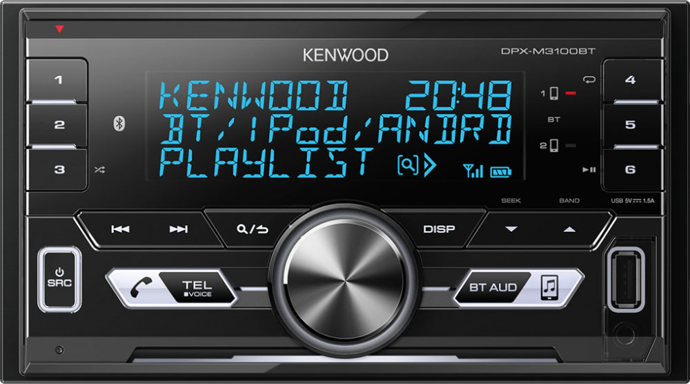 KENWOOD DPX-M3100BT 2-DIN MP3-Tuner mit Bluetooth