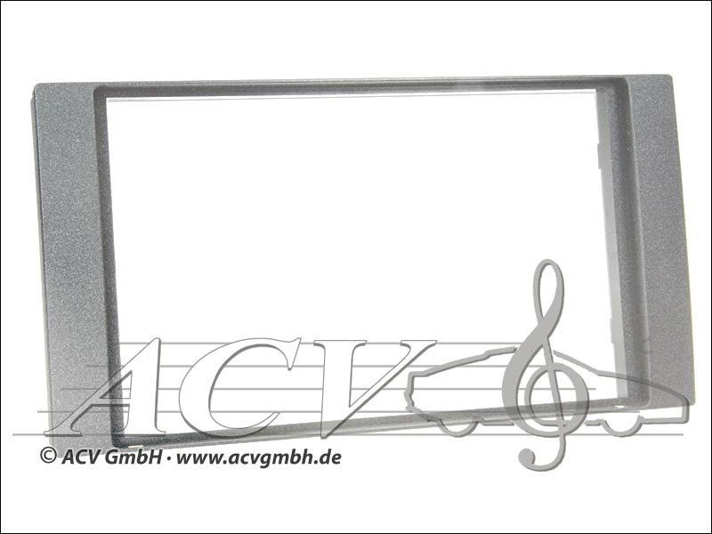 Radioblende Ford gomma Touch 2005 -> Doppio argento DIN