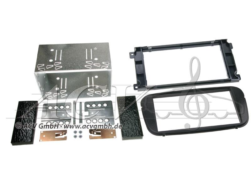 Double-DIN kit di installazione per Ford dal 2007 -> Colore: Nero