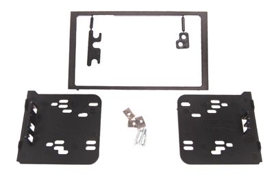 RTA 002.195-0 Double DIN mounting frame, black ABS version