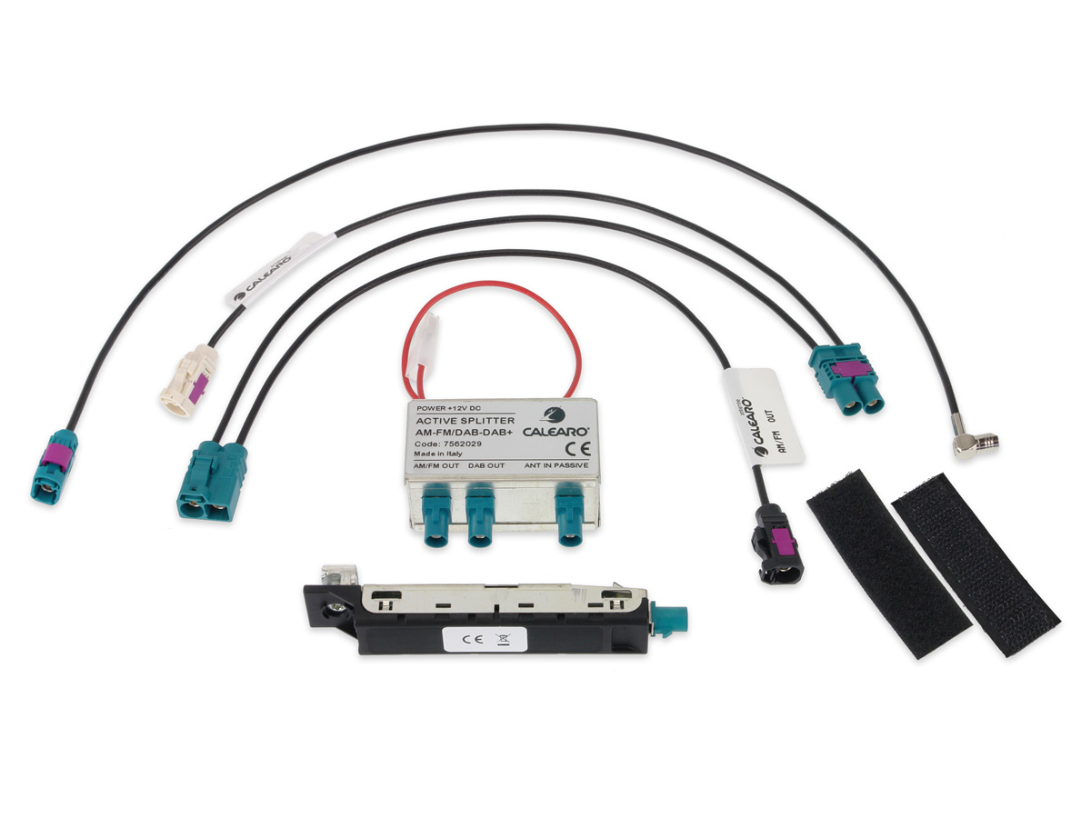 Alpine KAE-DAB1G7 DAB+ Antennensplitter für Volkswagen Golf VII Aktiver Splitter AM/FM & DAB+