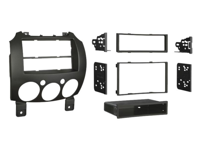 ACV 381170-15 2-DIN RB black with professional Mazda 2 2007>