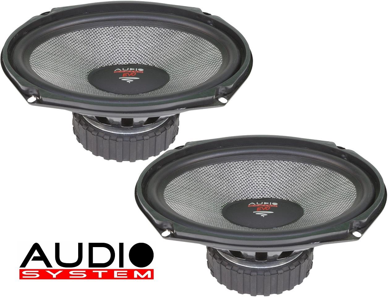 Audio System AS 609 EVO Lautsprecher für Mini und Amerikanische Modelle Tief / Mitteltöner / Midrange Lautsprecher 1 Paar