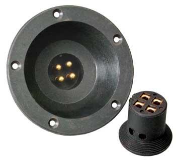 Sinuslive BTV Lautsprecherstecker und versenkte Einbaubuchse