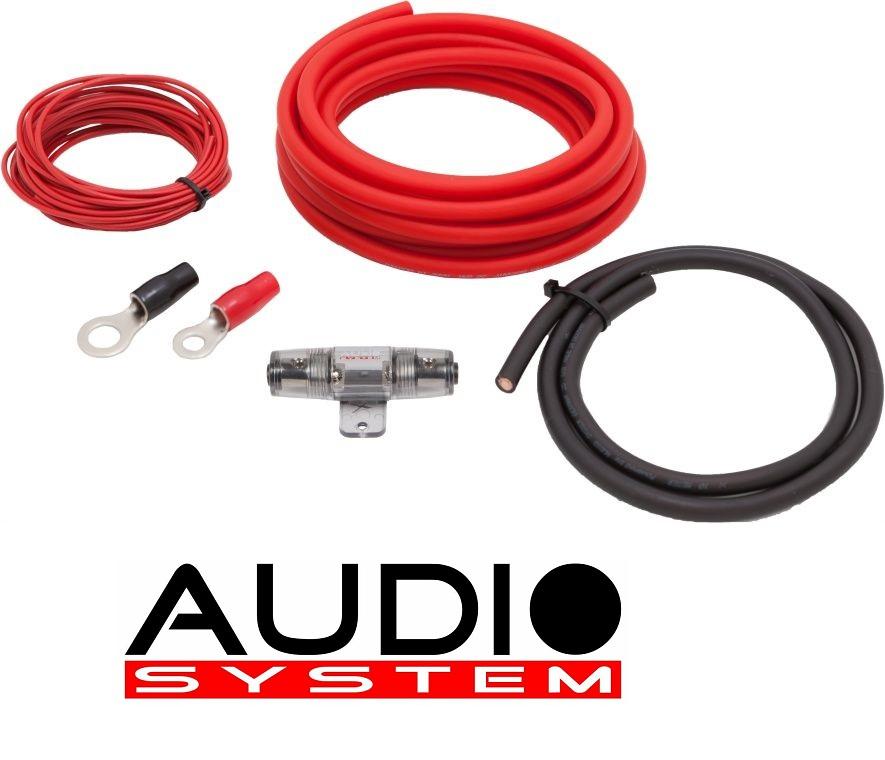 AUDIO SYSTEM Z-PCS 10-6 Kabelset Anschlußset 10mm² für Verstärker 6 meter