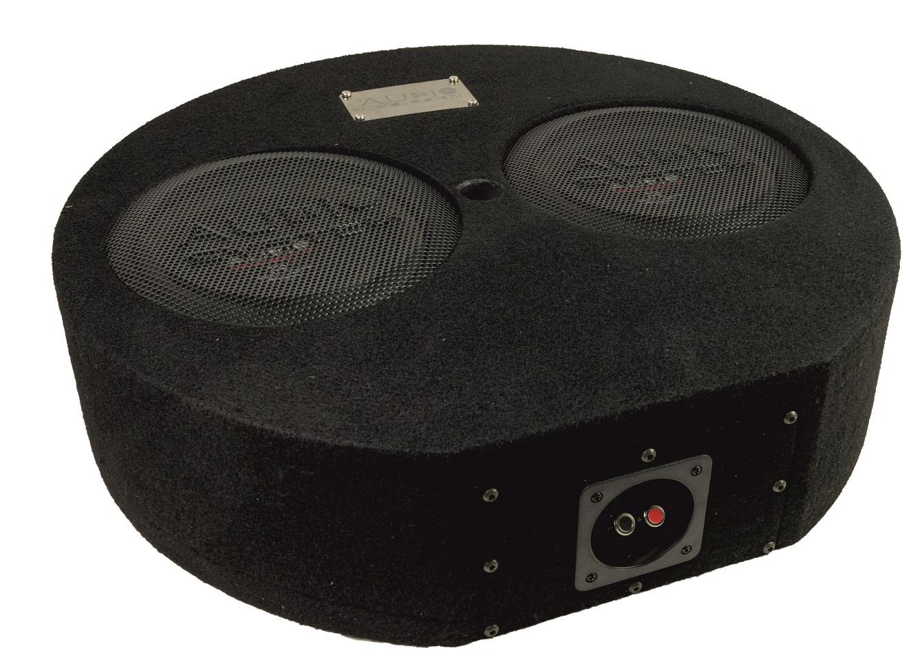Audio System SUBFRAME R08 FLAT-2 EVO Bassreflexgehäuse fürs Reserverad mit 2x R 08 FLAT EVO