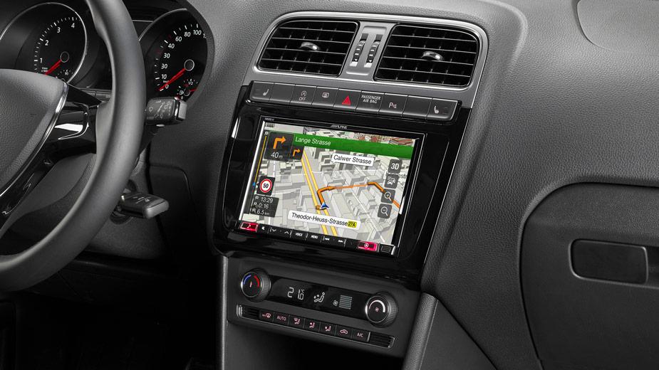 Alpine X803D-P6C 8-Zoll Premium-Infotainment-System für Volkswagen Polo 5 / GTI (6C) mit Navigationssystem, Apple CarPlay und Android Auto Unterstützung