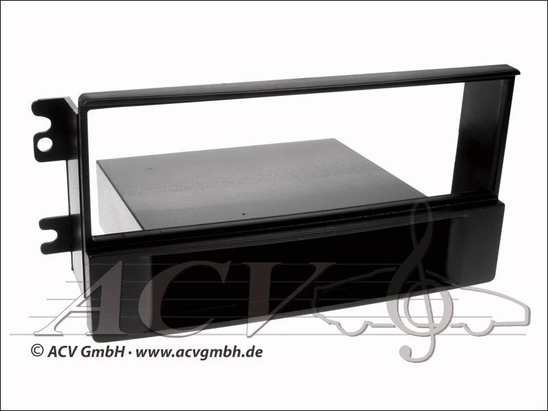 Radioblende Rubber Touch Kia Sportage II black