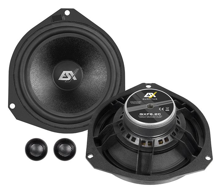 "ESX QXF6.2C 16 cm (6"") 2-Wege Komponenten Lautsprecher System für Fiat Ducato, Citroen Jumper, Peugeot Boxer, Ford Ka"