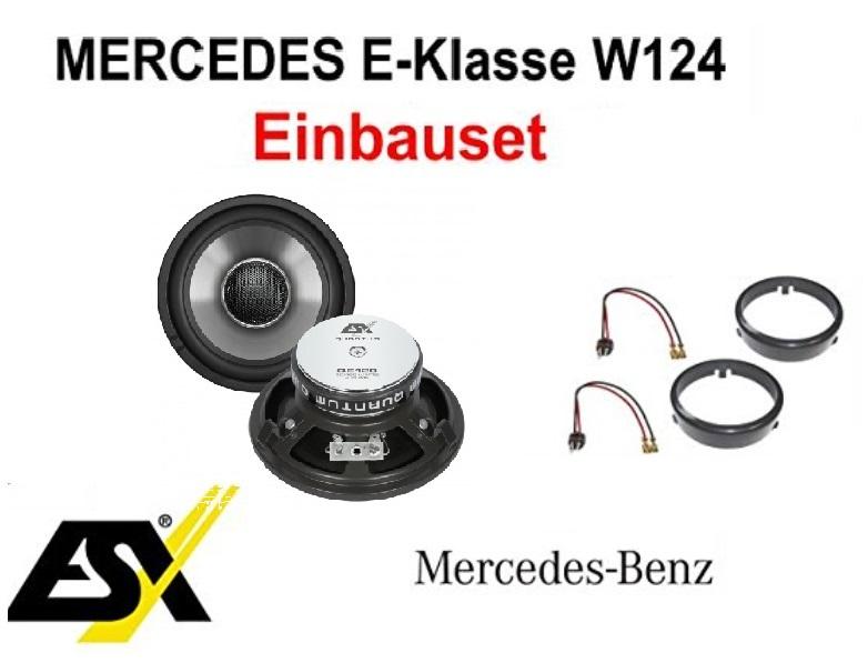Heck Lautsprecher Set ESX QE120 für Mercedes E-Klasse W124 1984 - 1997  1Paar