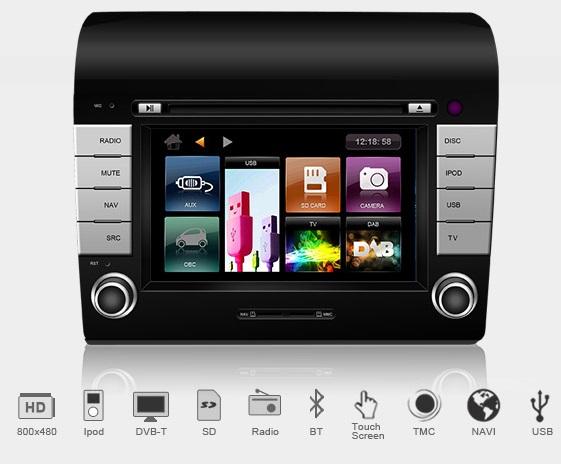 Dynavin N7-DC Pro Multimedia Navigation N7 Plattform für Citroën Jumper / Relay (Y) 2007->, Fiat Ducato (250) 06/2006 - > inkl. Navigationssoftware iGo Primo