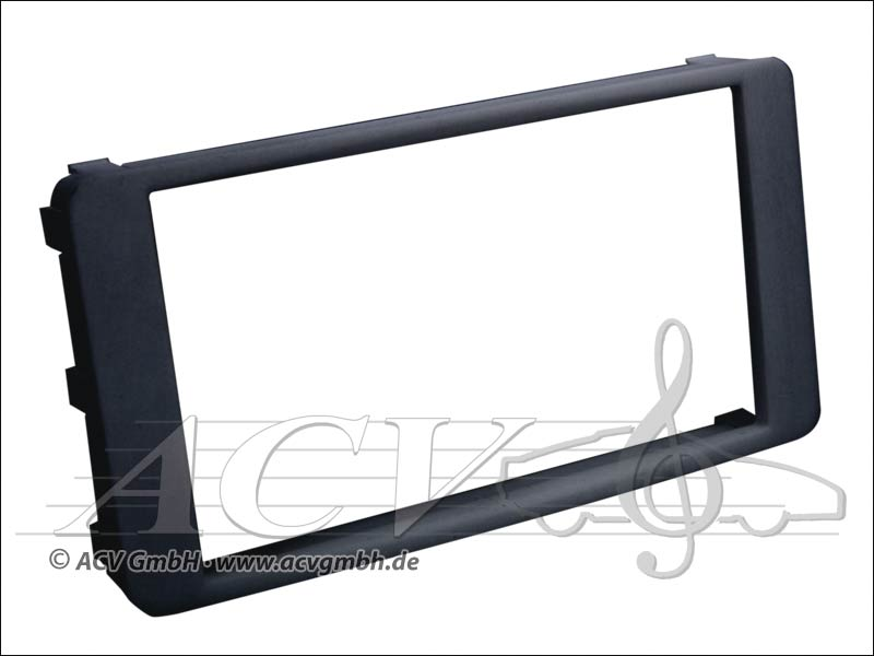 Double-DIN radio bezel for Mitsubishi Lancer / Outlander