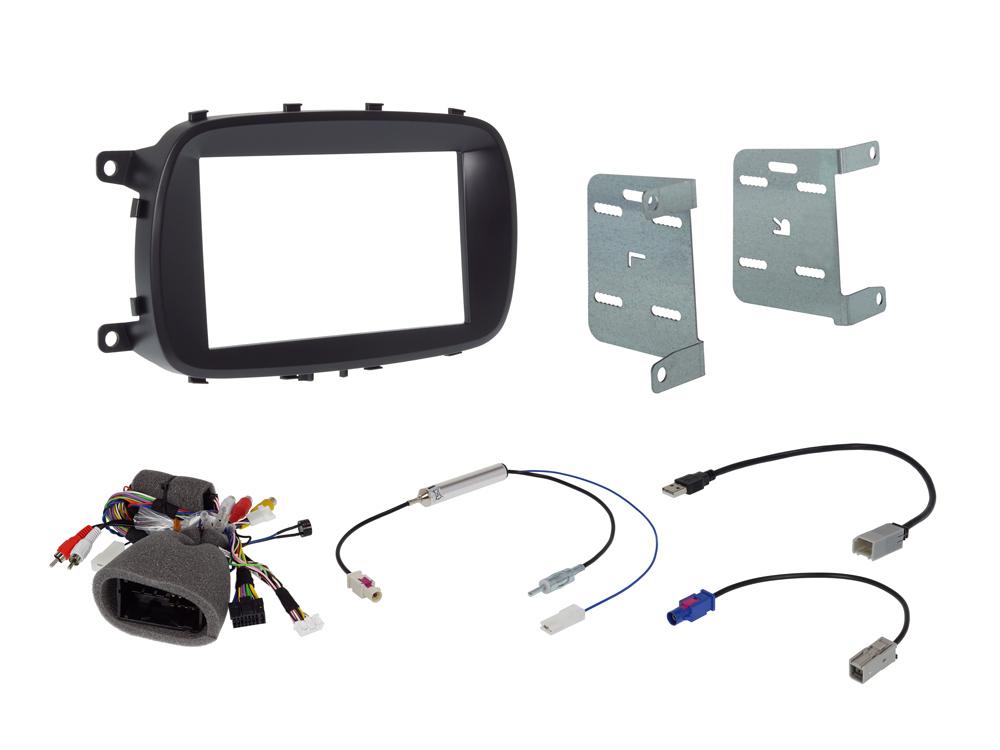 Alpine KIT-7FI-500X 7-Zoll Einbauset für Fiat 500X (334) 2 DIN Installations-Set