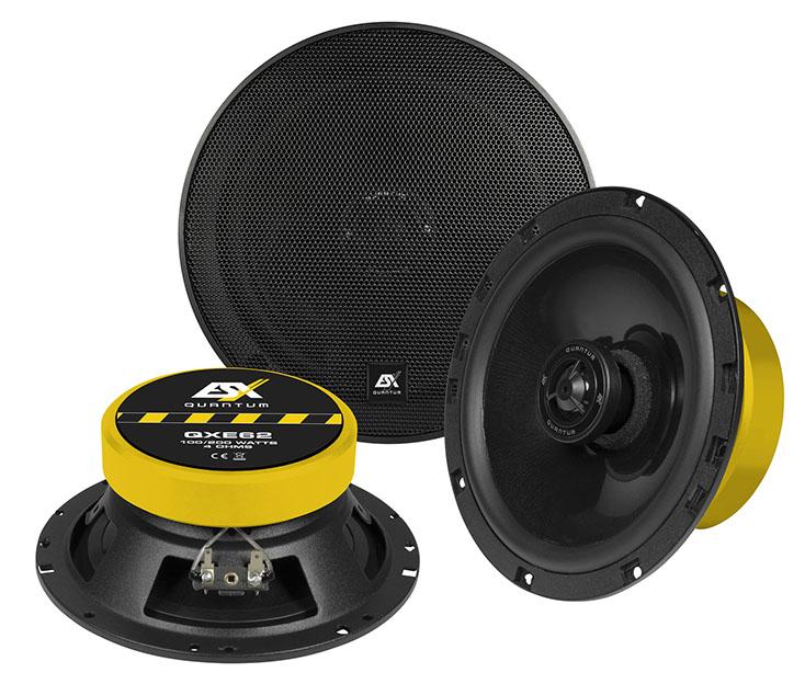 ESX QXE-62 QUANTUM Koax 16,5 cm Koax-Lautsprecher (Paar) 200 Watt